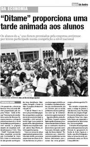 22 JUNHO 2011 - NOTÍCIA DIÁRIO AVEIRO - DITAME  PROPORCIONA UMA TARDE ANIMADA A ALUNOS
