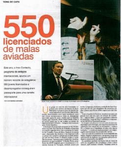 28 DE NOVEMBRO DE 2009 - REPORTAGEM SEMANÁRIO EXPRESSO EMPREGO SOBRE O PROGRAMA INOV